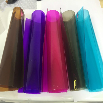 Colorful PVC rolls for folding plastic box