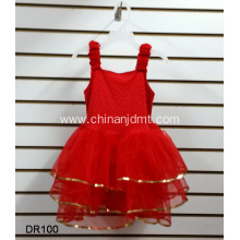 Red Sleeveless Girl Party Dress