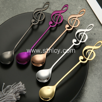 Stainless Steel Dessert Music Spoon