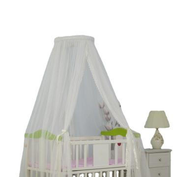 Indoor Lace Baby Round Bed Canopy Netting