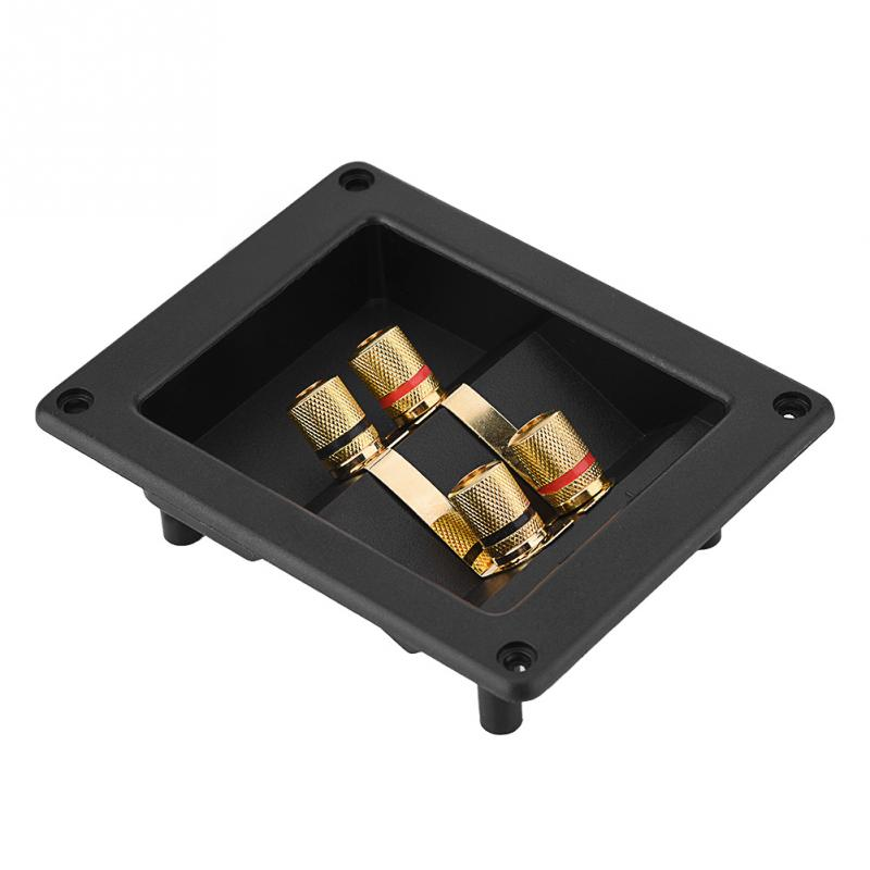 4 Copper Binding Post Terminal Cable Connector Speaker Terminal Box Acoustic Components Black