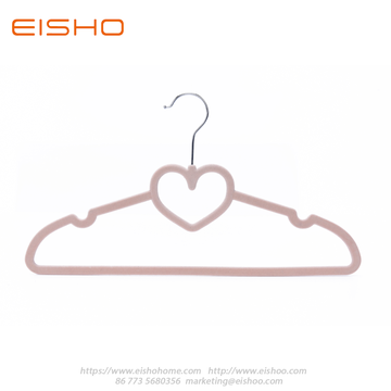 Dusty Rose Heart-shape Velvet Shirt Hanger FV005-42