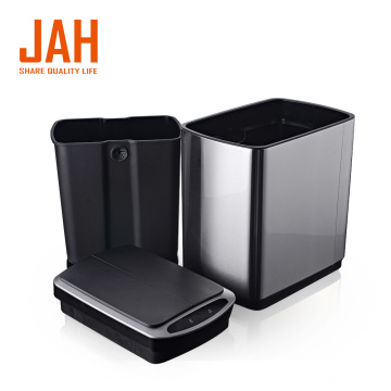 JAH rectangle butterfly open trash can