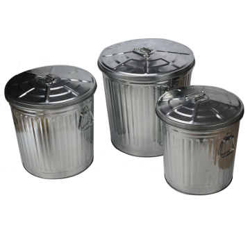 55L Multi-Purpose Trash Metal Outdoor Dustbins