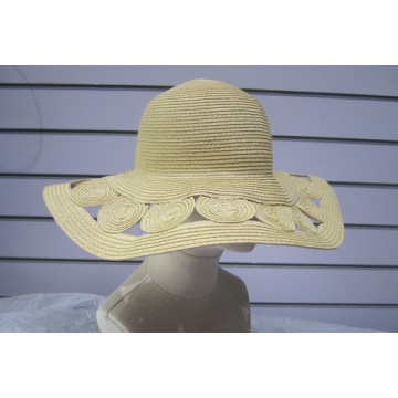 Fine Paper Braid Hollowed-out Sun Floppy Hats