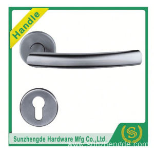 SZD STH-119 Satin Stainless Steel Door Handles Lever On Round Square Rose