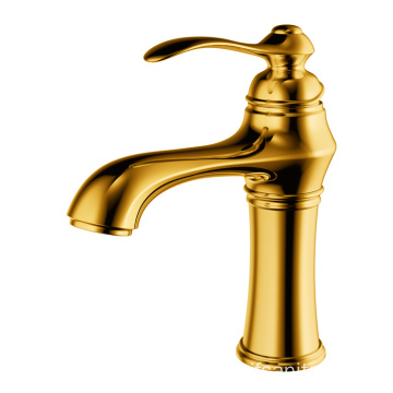 Single-lever basin faucet wash basin tap brass gold
