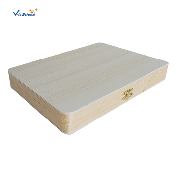 100 PCS Wooden Microscope Slide Box