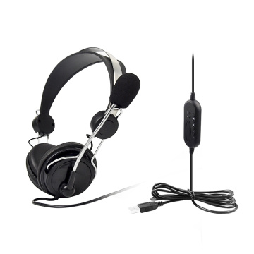 Noise Cancelling USB Call Center Headset Microphone