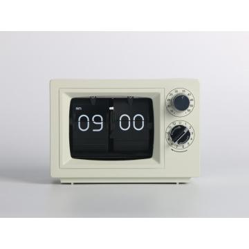 Mini TV Flip Clock on Desk