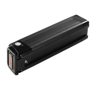 Black silver fish battery for seat tube bicycle