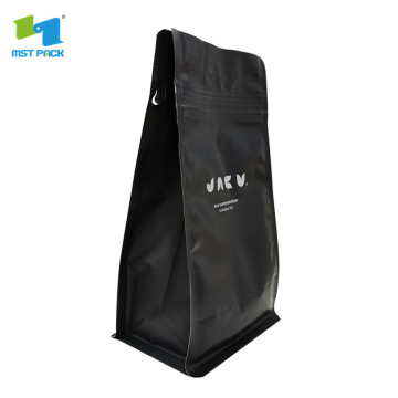 eco friendly recyclable coffee bag kraft with reusable zip lock and valve 1kg