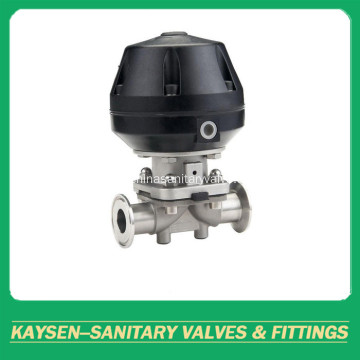 Sanitary diaphragm valve pneumatic clamped