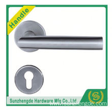 SZD STH-122 Top Quality Stainless Steel Door Curva Design Lever Handle With Rosettes