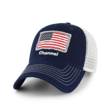 Soft mesh baseball cap with pigment washing