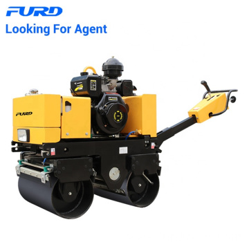 Manual 800kg Hydraulic Steering Double Drum Vibratory Roller