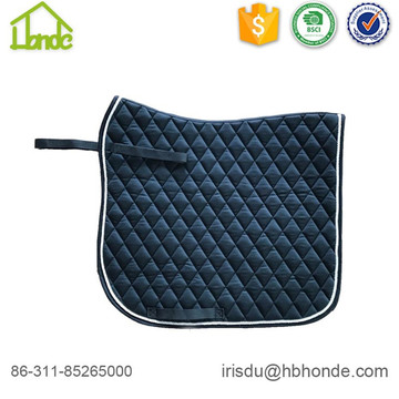 Diamond Pattern Black Polycotton Horse Saddle Pad