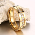 Cheap Minimalist Stainless Steel Gold Wedding Ring Sets