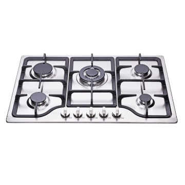 4 Burners Stainless Steel Cast Iron Gas Stove