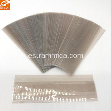 Vidrio de calibre de mica natural de 140 * 30 * 0.2 mm