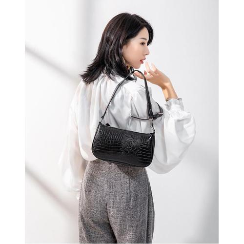 Alligator PU commute small shoulder bag