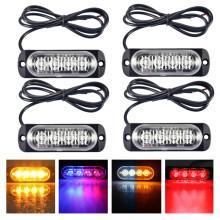 4PCS Strobe Side Lights Trailer Lights Grill Breakdown 12V 24V Flashing Strobe Light Emergency Lights Stroboscope For Auto