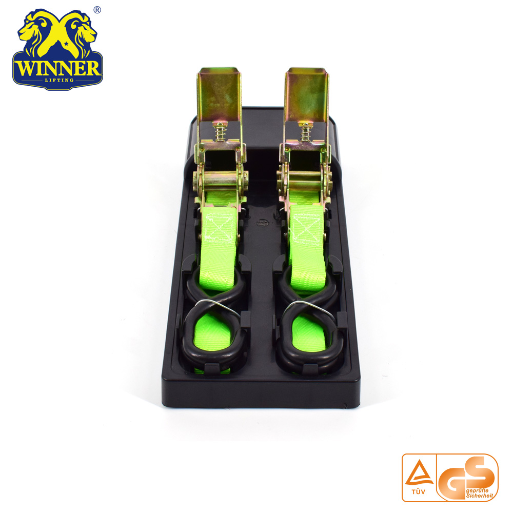 2PC Green 1 Inch Ratchet Tie Down