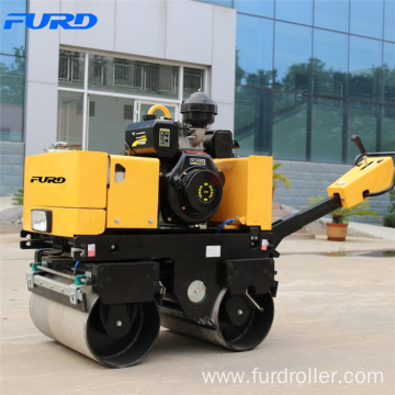Easy Operate Hydraulic Power Steering Double Drum Pedestrian Roller