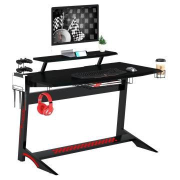 Gaming Table With Headphone Hook Computer Desk