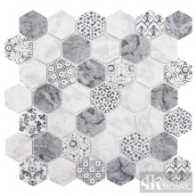 Eco Friendly Hexagon Abstract Pattern Mosaic