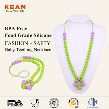 Custom soft silicone baby chew necklace