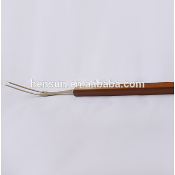Wooden Non-stick Roasting Grilling Stick Barbecue Meat Fork