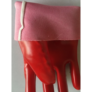 Oil resistant pvc coated gloves