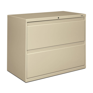 Beige 2D Lateral File Cabinet