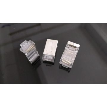 RJ45 pass through connector