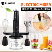 4 in 1 Multifunction Electric Food Processor Mixer 600W 3 Speed Kitchen Detachable Hand Blender Egg Beater Vegetable Stand Blend