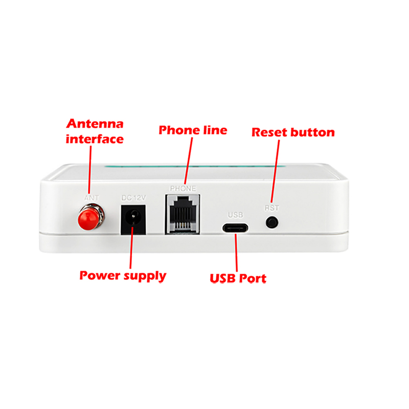 Fixed Wireless Terminal Quad Band GSM SIM Card PhoneLine Desktop Caller Dialer GSM850/900/1800/1900MHZ Standard DTMF Recognition