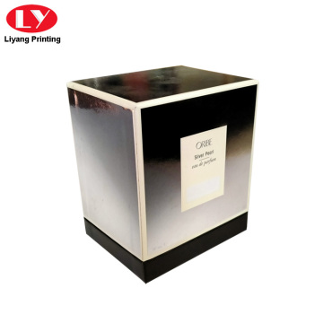 Luxury Packaging Paper Perfume Box Silver