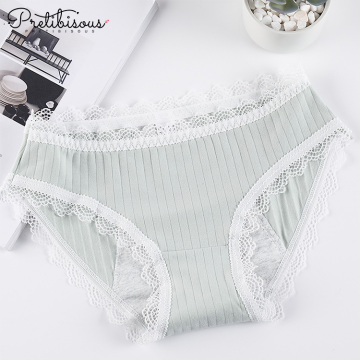 Sexy lace underwear women comfortable briefs panty