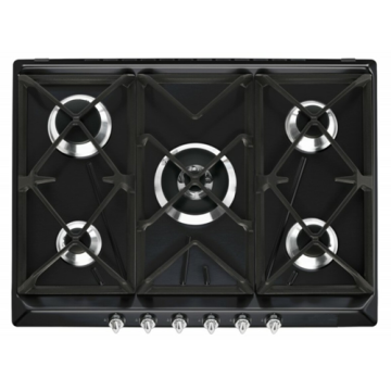 Smeg Gas Burner Black Glass Top