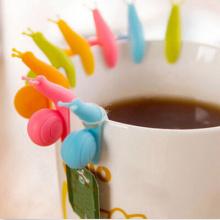 5PCS Cute Snail Shape Silicone Tea Bag Holder Cup Mug Hanging Tool Tea Tools Randome Color