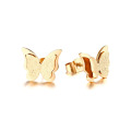 Wholesale rose gold butterfly stud earrings