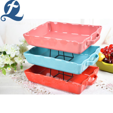 Fashion Style Popular Colorful Stone ware Baking Pan Ceramic Bakeware Tableware