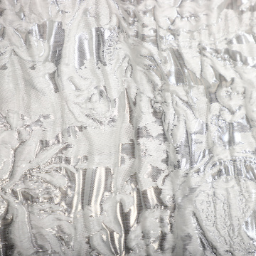 Brocade Silk White White