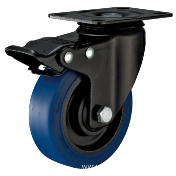 5inch Swivel Electrophoresis Black Blue TPR Casters With Top Brake