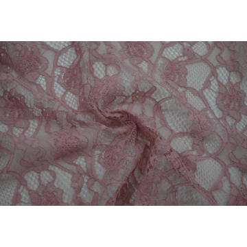 100% Polyester Velvet Cord Lace Fabric