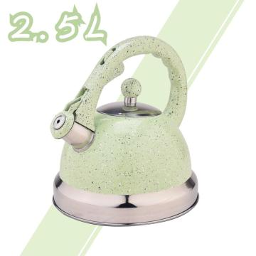 Green Mirror Stainless Steel Whistling Tea Kettle