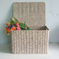 square wash white water sea grass storage trunk
