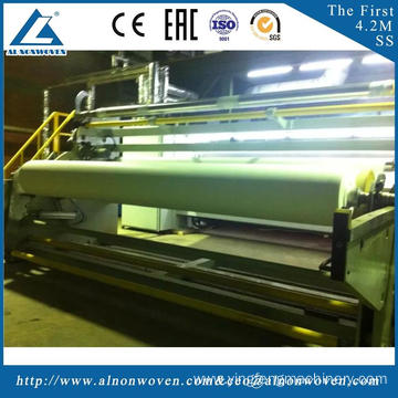 Best automatic AL-4200 SS 4200mm PP Spunbond nonwoven fabric making machine with great price