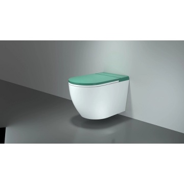 Round Shape Cceramic Tankless Wall Hung Toilet